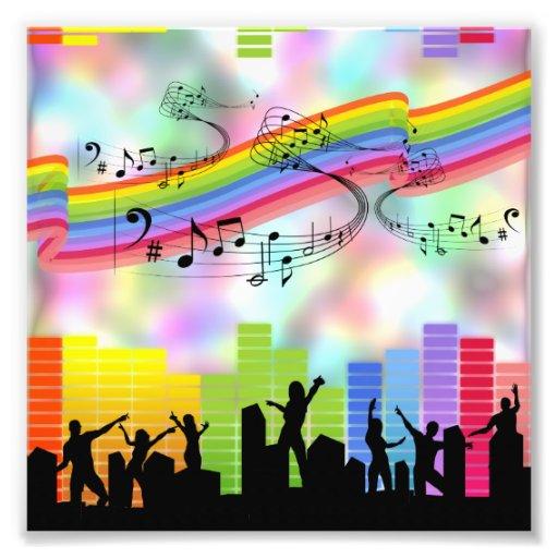 Música colorida del fiesta cojinete