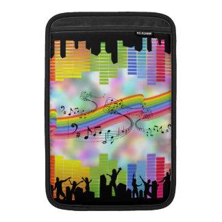 Música colorida del fiesta fundas macbook air