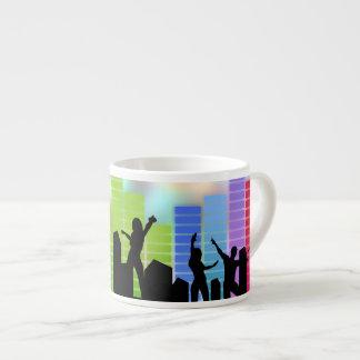 Música colorida del fiesta taza espresso