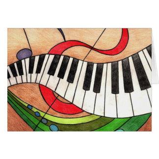 Música colorida tarjeta pequeña