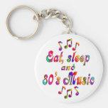 Música coma, del sueño y de los años 80 llavero