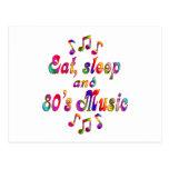 Música coma, del sueño y de los años 80 postal