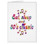 Música coma, del sueño y de los años 80 tarjetas