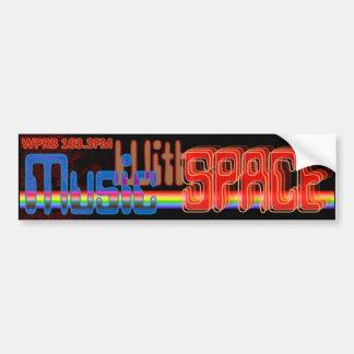 Música con el espacio - logotipo de la demostració etiqueta de parachoque