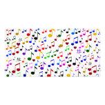 Música con Love_ Tarjeta Fotografica Personalizada