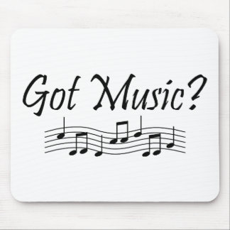 ¿Música conseguida? (Notas 1) Tapetes De Ratones