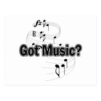 ¿Música conseguida? (Notas 2) Postal