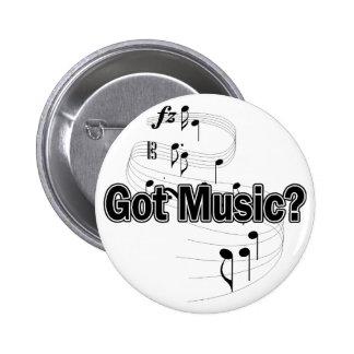 ¿Música conseguida? (Notas) Pin Redondo De 2 Pulgadas