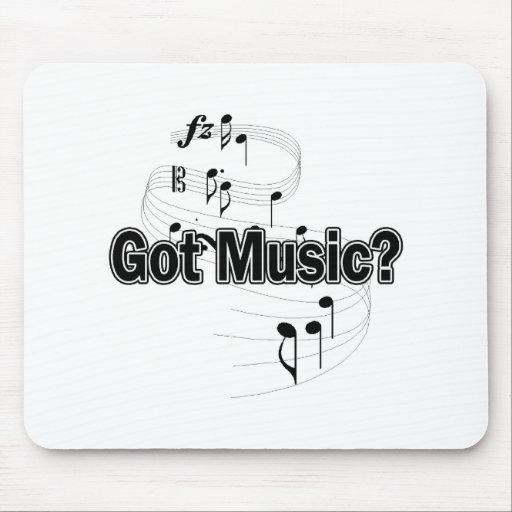 Música conseguida (notas) tapete de ratón