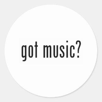 ¿música conseguida? pegatina redonda