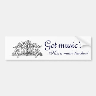 ¿Música conseguida Pegatina para el parachoques Pegatina De Parachoque