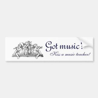 ¿Música conseguida?  Pegatina para el parachoques Pegatina Para Auto