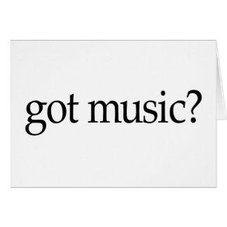 Música conseguida tarjeta de felicitación