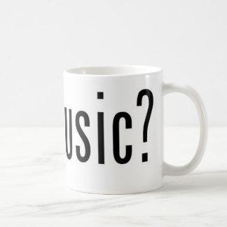 ¿música conseguida? taza básica blanca