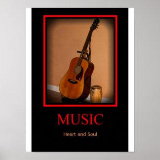 Música - corazón y alma poster