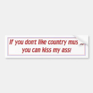 Música country pegatina de parachoque