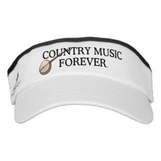 Música country de la CAMISETA para siempre Visera