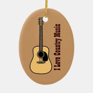 Música country ornamento para arbol de navidad