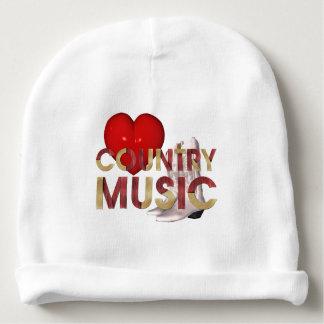 Música country del amor de la CAMISETA I Gorrito Para Bebe
