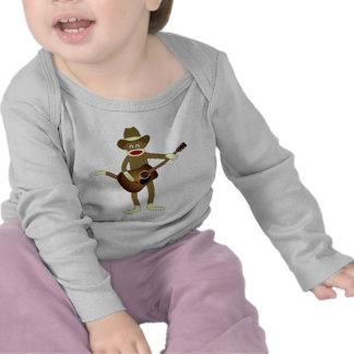 Música country del mono del calcetín camisetas