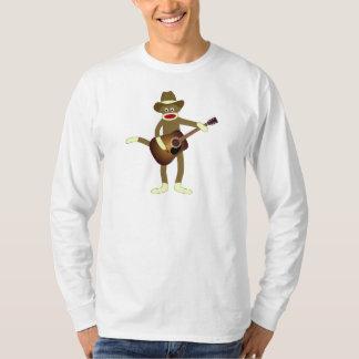 Música country del mono del calcetín playera