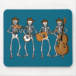 Música country que juega los esqueletos alfombrillas de ratón