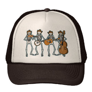 Música country que juega los esqueletos gorra