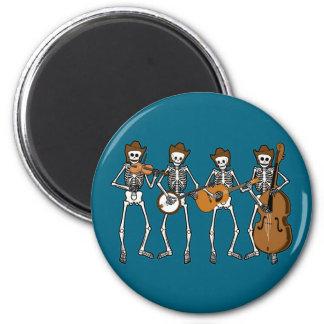 Música country que juega los esqueletos imán de frigorifico