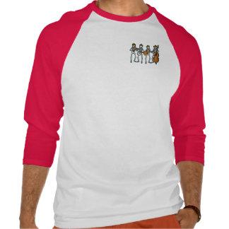 Música country que juega los esqueletos camiseta