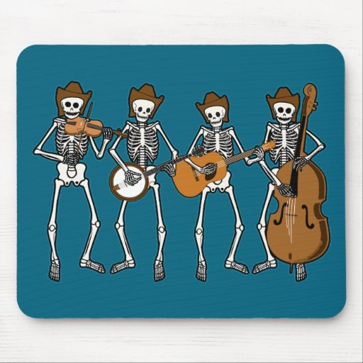 Música country que juega los esqueletos alfombrilla de raton