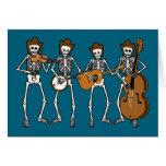 Música country que juega los esqueletos tarjeton