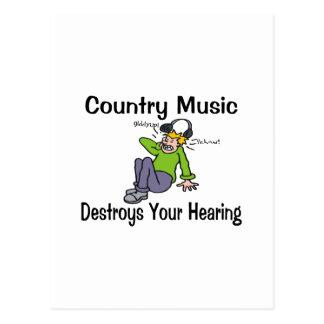 Música country tarjetas postales
