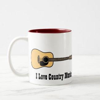 Música country taza dos tonos