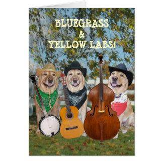 Música country y cumpleaños del personalizable de  tarjeta de felicitación