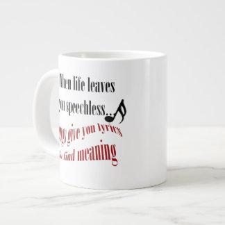 Música cuando la vida le deja la taza de café muda taza grande