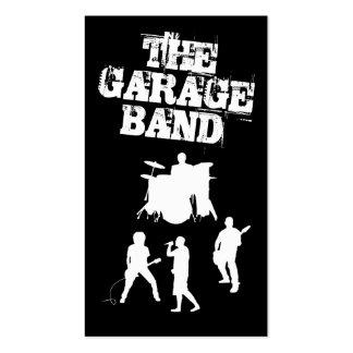 Música de banda del garaje tarjetas de visita