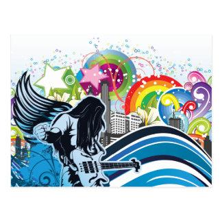Música de banda del metal pesado de la roca del ~ tarjetas postales