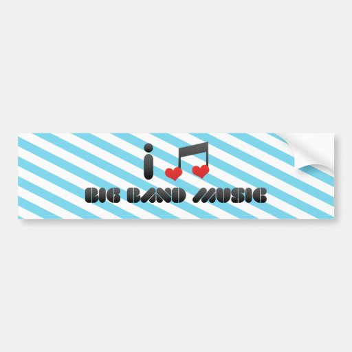 Música de big band etiqueta de parachoque