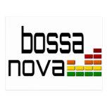 Música de Bossa Nova con el equalizador estéreo Tarjeta Postal