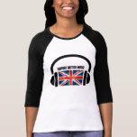 Música de Británicos de la ayuda Camiseta
