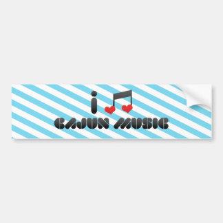 Música de Cajun Pegatina De Parachoque