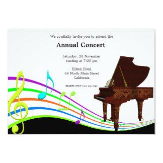 """Música de concierto invitación 5"""" x 7"""""""