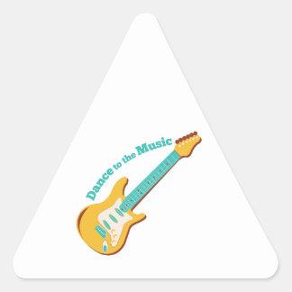 Música de danza pegatinas de triangulo personalizadas
