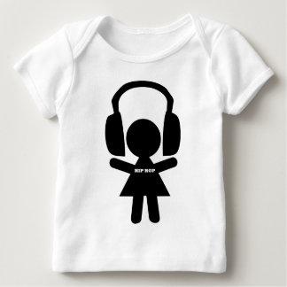 Música de Hip Hop, auriculares, amor del hip-hop Playera De Bebé