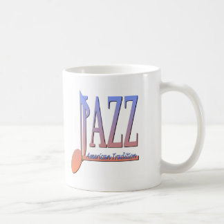 Música de jazz americana taza