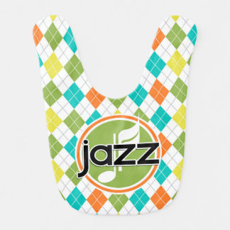 Música de jazz; Modelo colorido de Argyle Baberos