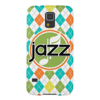 Música de jazz; Modelo colorido de Argyle Funda Para Galaxy S5
