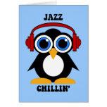 música de jazz tarjetón