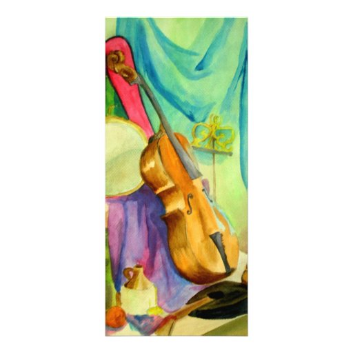 Música de la acuarela diseño de tarjeta publicitaria