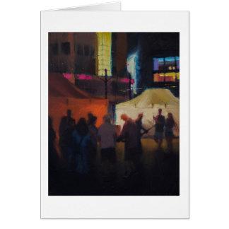 Música de la calle tarjeta